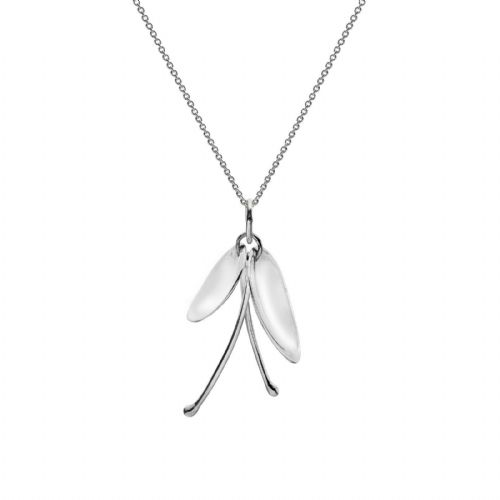 Exotic Lily Pendant Sterling Silver 925 Hallmarked All Chain Lengths